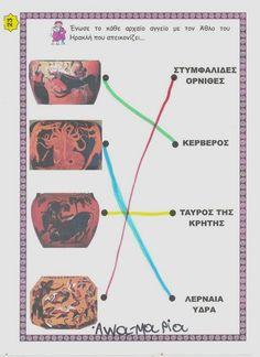 5ο Νηπιαγωγείο Τρίπολης: Θεοί Ολύμπου-Ηρακλής Map, Blog, English, Location Map, English Language, Maps