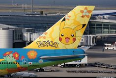 ONE DAY I WILL FLY ON THIS! Nippon airway's pokemon jet #pokemon