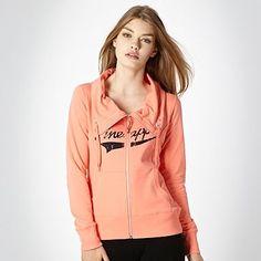 Pineapple orange fly collared zip through sweatshirt - £32