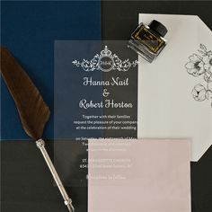 Floral Waves UV Print Acrylic Card ~ On Sale $4.37 Unique Wedding Stationery, Wedding Invitation Trends, Laser Cut Wedding Invitations, Invitation Design, Acrylic Invitations, Types Of Printing, Bat Mitzvah, Reception, Waves