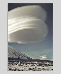 A great example of lenticular clouds over the Kamen volcano in Ust'-Kamchatskiy, Kamchatka Krai, Russia.  Photo by:  Korotnev AV