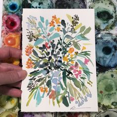 Watercolor Painting Winter Florals/ Easy for Beginners/ Easy Watercolor Roses Watercolor Tutorials, Easy Watercolor, Watercolor Sketch, Watercolor Techniques, Floral Watercolor, Watercolor Paintings, Small Paintings, Original Paintings, Art Pages