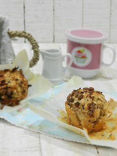 La cocina de Vifran: Muffins integrales con muesli al chocolate y plátano crunch