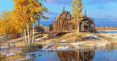 ArtStation - Autumn at Relay Outpost 17, Marek Denko
