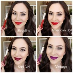 Anastasia Beverly Hills liquid lipstick Bloodline American Doll Sad Girl Vintage