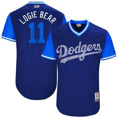 """Logan Forsythe """"Logie Bear"""" Los Angeles Dodgers Majestic 2017 Players Weekend Authentic Jersey - Royal - $199.99"""
