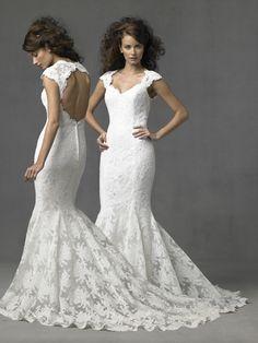 lace wedding gown     #wedding ideas