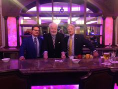 Where it began... Ray Foley behind the stick at The Manor in West Orange, NJ with owners Wade and Kurt Knowles on the occasion of Mrs. Knowles' birthday!