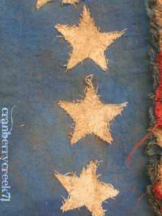 Primitive American Flag RESERVED AMY CHILDREY by ChestnutValley