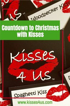 Each day during December, take a minute to draw a Kiss Card from Kisses 4 Us and enjoy a special moment with your partner.  It may be a silly kiss to make you laugh, or a romantic kiss to show how much you care.  It's a fun, flirty, romantic way to get through the holidays!  After the holidays are over, make sure you try the rest of the Kiss Cards to celebrate! Christmas Date, Romantic Christmas Gifts, Diy Xmas Gifts, Holiday Dates, Christmas Gifts For Him, 12 Days Of Christmas, Christmas Countdown, Holiday Ideas, Holiday Gifts