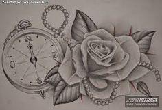 Resultado de imagen para rosas tattoo dibujos