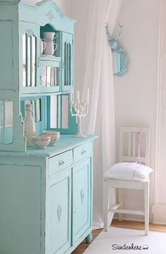 http://www.suendenherz.de/ #türkis #shabby #KitchenDresser #cupboard