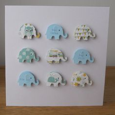 Personalised New Baby Card  Baby Girl or Baby Boy by ElsieBobbins, £2.95