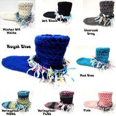 Tall Boot Cuff Width Socks , Slipper Socks , Slouchy Socks , Funky Handmade Socks , Chunky Boho Socks With Colorful Trim