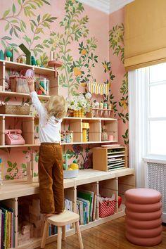 Perfect Wallpaper, Of Wallpaper, Kids Room Wallpaper, Neon Home Decor, Brothers Room, Blue Paint Colors, Ikea Storage, Big Girl Rooms, Kids Room Design
