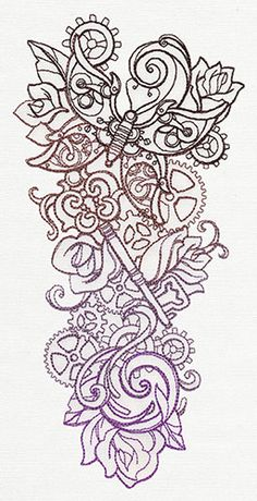 Love this design! Steampunk Sleeve | Urban Threads: Unique and Awesome Embroidery Designs