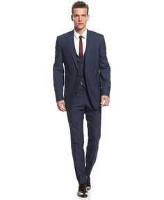 THE way to go. navy 3 piece suit | male | Pinterest | Boys suits