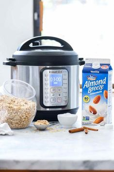 Today Im sharing how to make Instant Pot oatmeal with both steel cut oats and rolled oats plus 10 flavor combinationsfrom fruit or kale to chocolate chips and nut buttersto make this oatmeal totally your own. Oatmeal With Almond Milk, Oatmeal In A Jar, Pumpkin Pie Oatmeal, Multi Cooker Recipes, Oatmeal Recipes, Pressure Cooker Recipes, Milk Recipes, Almond Recipes, Healthy Recipes