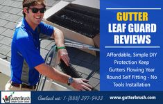 Gutter Guard Leaf Filter - Keeps Gutters Flowing - GutterBrush Simple