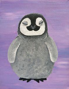 Polar Bear Penguin heart moon. baby nursery от KBNurseryWalls