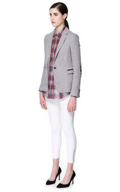 BLAZER WITH ELBOW PATCHES, great casual outfit blazer is £49.99
