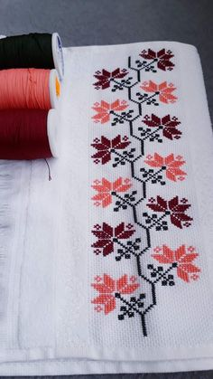 Cross Stitch Borders, Cross Stitch Samplers, Cross Stitching, Cross Stitch Patterns, Palestinian Embroidery, Ribbon Embroidery, Diy And Crafts, Beads, Sewing
