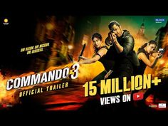 Commando 3 official trailer has been published on 24 october 2019. It is action thriller film. Here is the trailer, release date, and cast of commando 3. 3 Movie, It Movie Cast, Sunshine Pictures, In Cinemas Now, Bollywood Cinema, Bollywood News, Movie Teaser, Devotional Songs