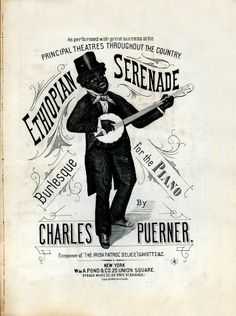 WONDERFUL A4 GLOSSY PRINT - 'ETHIOPIAN SERENADE' - CIRCA 1883 (A4 PRINTS - VINTAGE SHEET MUSIC / SONG BOOK COVERS) by Unknown http://www.amazon.co.uk/dp/B004ITVKD0/ref=cm_sw_r_pi_dp_wp2ovb1SX76Z9