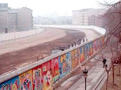 The Berlin Wall in 1986, painted on the western side