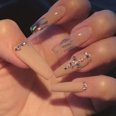 Swarovski crystals and glass films available on oceannailsupply.com . . . from @helennails_yeg