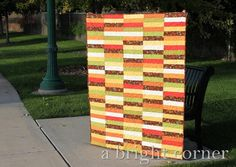 Celebrate the season with this latte-inspired pattern. Pumpkin quilt patterns are our new favorite fall sensation! Quilting Tutorials, Quilting Projects, Quilting Ideas, Quilting Tools, Mini Quilt Patterns, Blanket Patterns, Quilting Patterns, Strip Quilts, Quilt Blocks