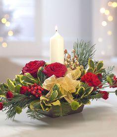 christmas flower arrangements | christmas floral arrangements