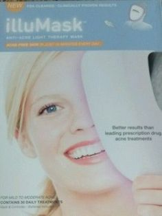 IlluMask Anti Acne Light Therapy Facial Mask Proven 30 Treatment FDA  Approved