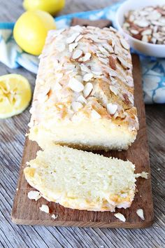 Lemon Almond Bread by twopeasandtheirpod #Bread #Lemon #Almond