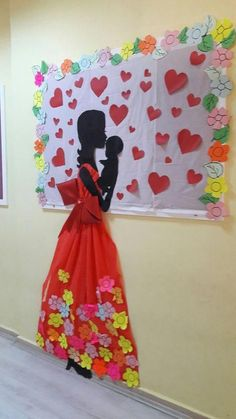 Mother's Day celebration mural Decoration Creche, Class Decoration, School Decorations, Kids Crafts, Diy And Crafts, Arts And Crafts, Paper Crafts, Diy Y Manualidades, Art N Craft