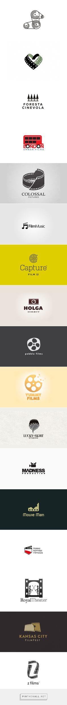 25 Awe-Inspiring Film Logo Designs - created on Best Logo Design, Graphic Design Branding, Identity Design, Visual Identity, Logo Branding, Film Logo, Logo Luxury, Symbol Design, Symbol Logo