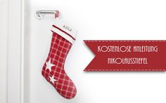 Free sewing instructions: Here we show you how to sew a pretty Santa's boot. Every year is on the of December Source by antje_krueger Christmas Fabric Crafts, Felt Christmas Decorations, Christmas Stockings, Holiday Decor, Christmas And New Year, Xmas, Santa Boots, Free Sewing, Diy And Crafts