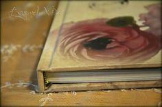Carte Postale guestbook / wishbook - Peonies - Vintage wedding stationery - Beyond Verve