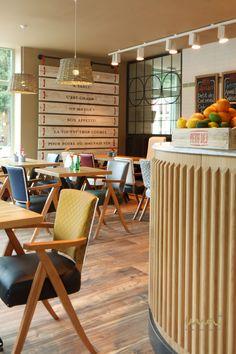 #interiordesign #bistrodesign #breakfastclub #hospitality #brunchideas #restaurantdesign #frenchbistro Bistro Design, French Bistro, The Breakfast Club, Restaurant Design, Hospitality, Brunch, Interior Design, French Patisserie, Eat Lunch