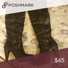 ⚅blowout sale⚅ Guess Tall Black Boots Gently used black guess boots! They are over-the-knee boots but the tops can be rolled down. They have only been worna couple of times and are in EUC. Michael Kors Shoes Over the Knee Boots