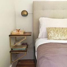 Bedroom nightstand shelf idea... #InstaFav: 20 best IKEA hacks on Instagram - IKEA Hackers - IKEA Hackers
