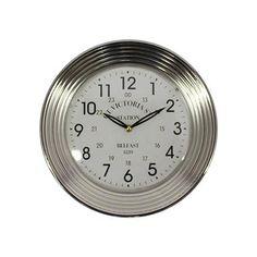 Horloge murale métallique 32x32x7cm, blanc