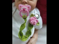 Crochet Pacifier Clip / Holder Pattern Tutorial - Right Handed - YouTube