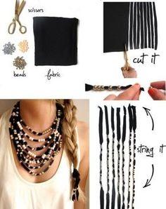 Comment fabriquer un collier multirang, faire par soi même un collier multi rangs facile à créer. Idées et technique création bijoux.