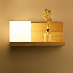 Wood Oak Modern wooden night table & Wall Lamp Lights For Bedroom Wooden Wall Lights, Wooden Walls, Wall Light Fixtures, Wall Sconces, Living Room Lighting, Home Lighting, Wooden Clothes Rack, Diy Projects Plans, Modern Led Ceiling Lights