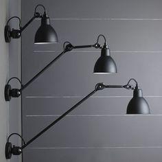 Wandleuchte/Deckenlampe N° 304 mit Gelenkarm 40/60 cm *Kugelgelenk-Wandlampen im Vergleich: Das kurze Modell ganz oben führen wir als separaten Artikel