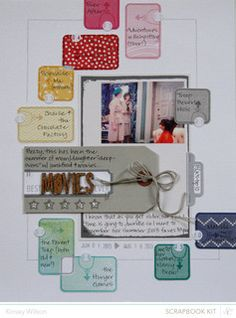 Made with @Studio_Calico August kits and add ons || Marks & Co. 2013.