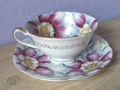 Antique Japanese tea cup and saucer Royal Sealy by ShoponSherman