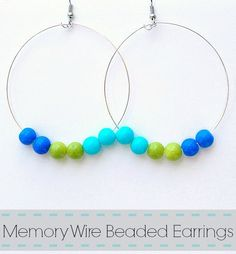 Memory Wire Beaded Earrings - Seven Alive