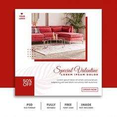 Special Valentine Sale For Social Media Post Social Media Images, Social Media Banner, Social Media Template, Social Media Design, Youtube Banner Design, Web Banner Design, Book Design Layout, Album Design, Valentines Sale